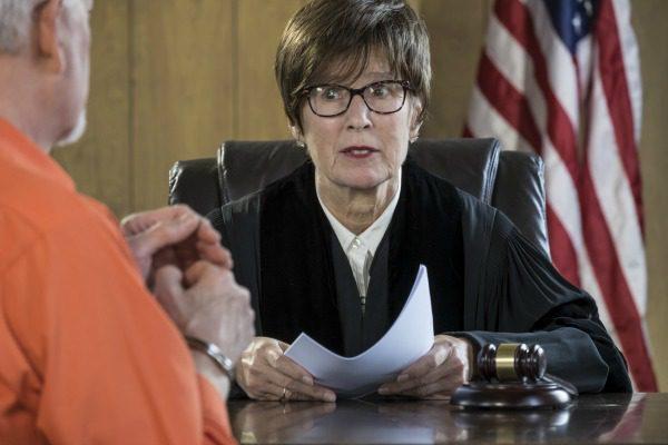 Judge delivering verdict
