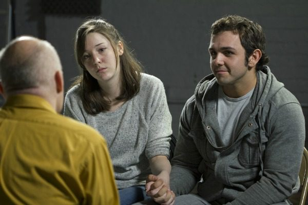 Couple in therapy session