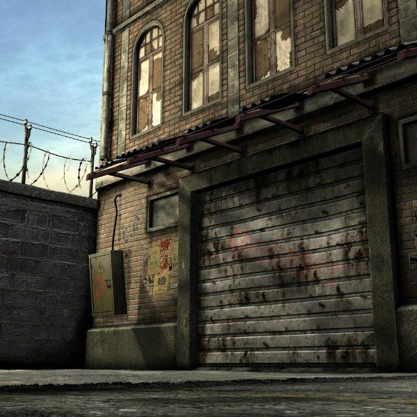 Run-down urban area