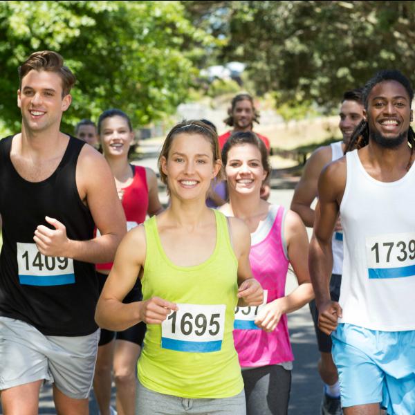 Group running 5K race
