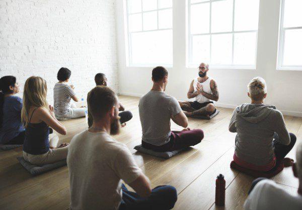 Yoga group sitting