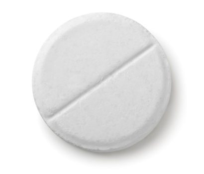 single white round pill