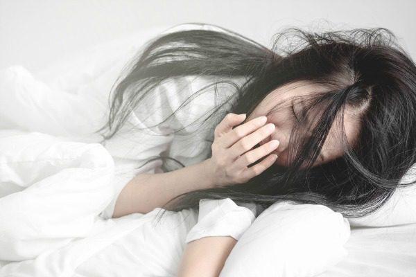 Drowsy woman